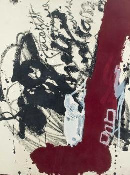 Antoni Tàpies. Composición abstracta