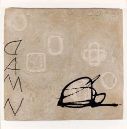 Antoni Tàpies. Empremtes sobre gris