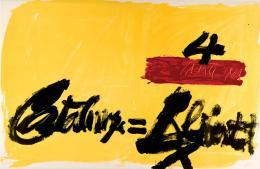 Antoni Tapies. Composición