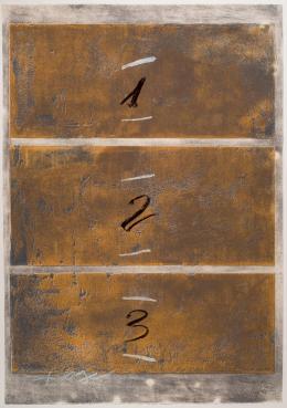 Antoni Tàpies. Tríptico vertical