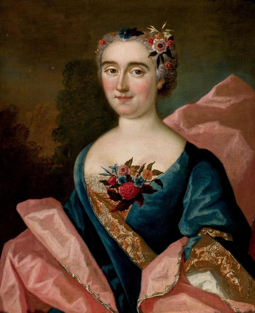 Escuela Francesa S. XVIII. Retrato de noble dama