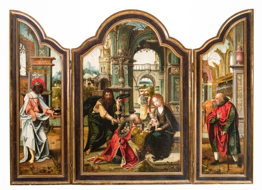Taller de Pieter Coecke van Aelst. Adoración