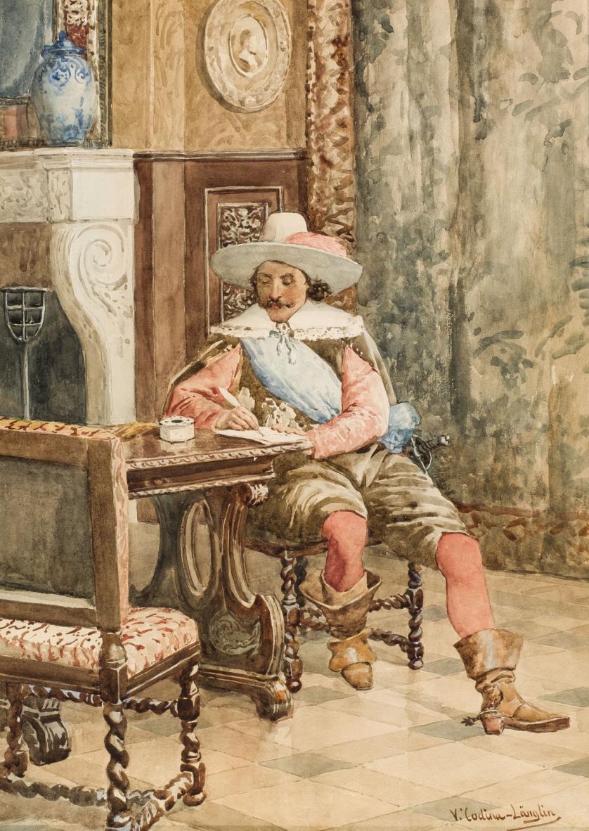 Victoriano Codina y Langlin. Mosquetero