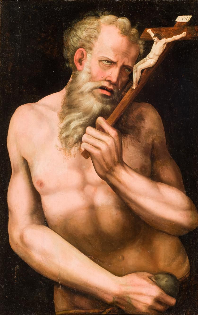 Escuela Italiana S. XVI. Santo eremita