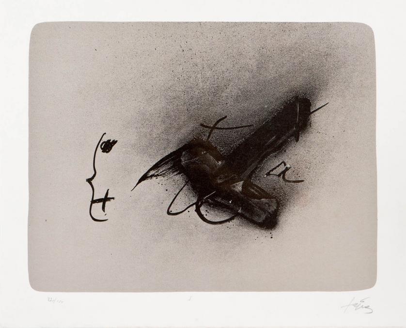 """""""Composición"""". Litografía. 57 x 78. Firmado en el"""