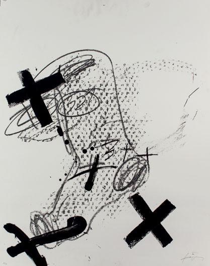 Antoni Tapies. Sin título. Litografía