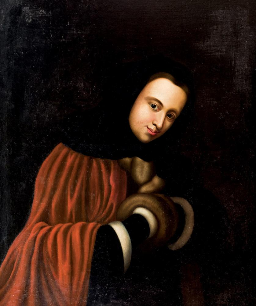 Escuela Centroeuropea XVIII-XIX. Dama con pieles