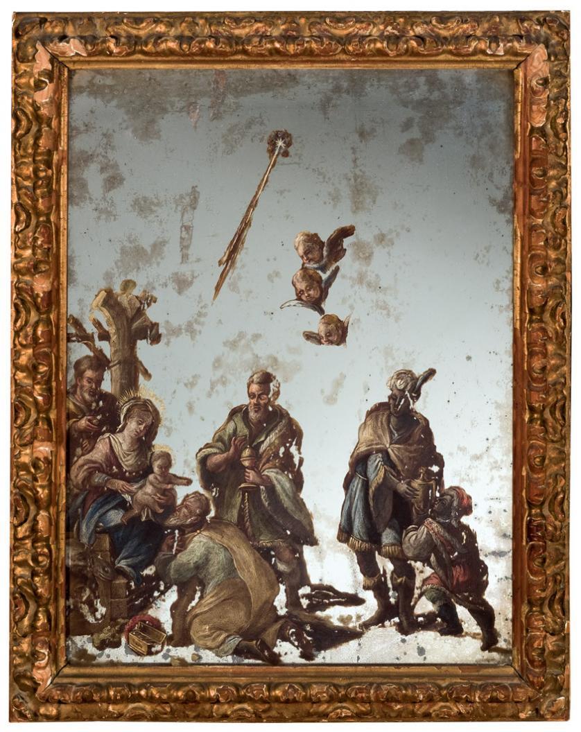 Escuela Española S. XVIII. Adoración