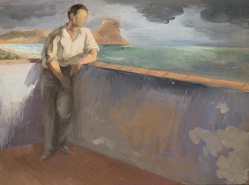 Ramón Gaya. Luis Cernuda frente al mar