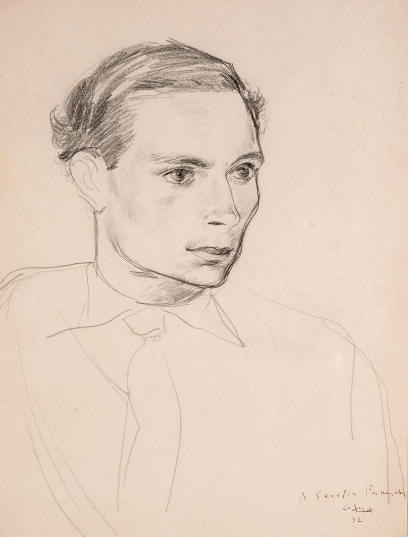Ramón Gaya. Retrato de Serafín Fernández Ferro