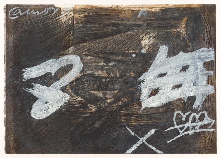 Antoni Tàpies. Amor amb signes blancs (1987)