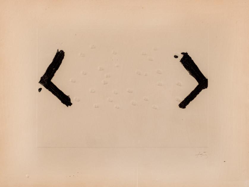 Antoni Tàpies. Les Haricots (1969)