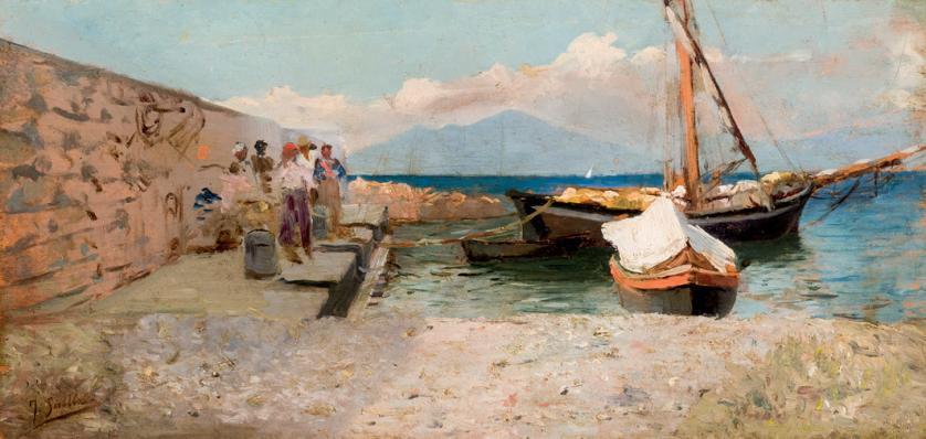 Joaquín Sorolla. Puerto de Nápoles (1886)