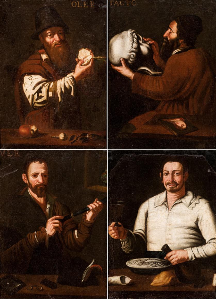 Escuela Española S. XVII. Los sentidos