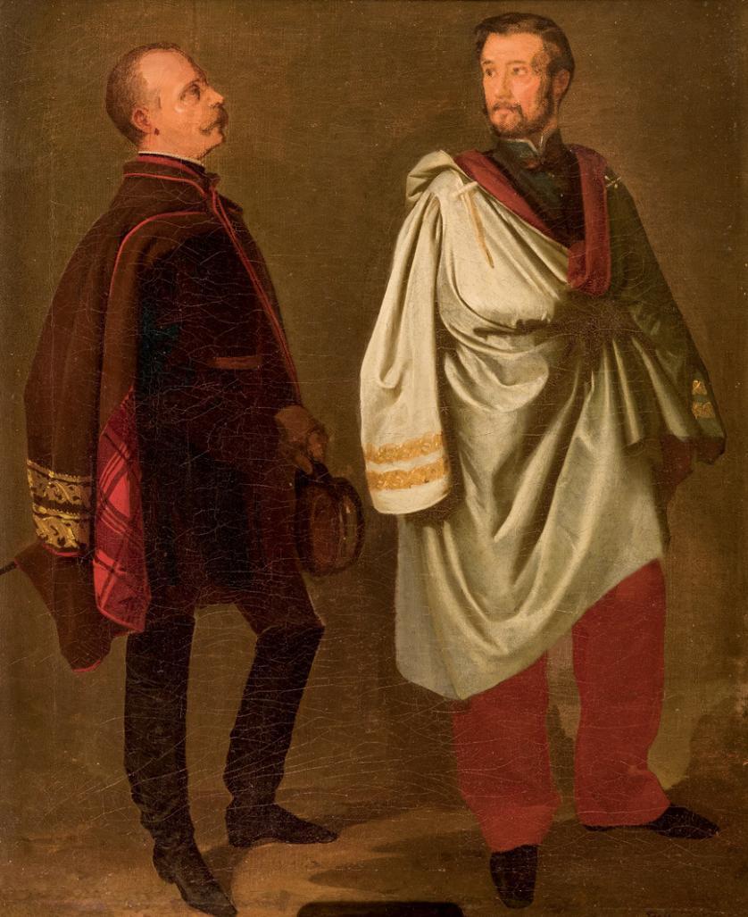 Joaquín Domínguez Bécquer. Prim y Ros de Olano