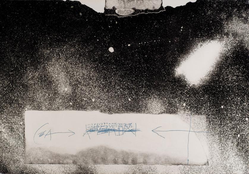 Antoni Tàpies. Chiffres et fleches (1976)