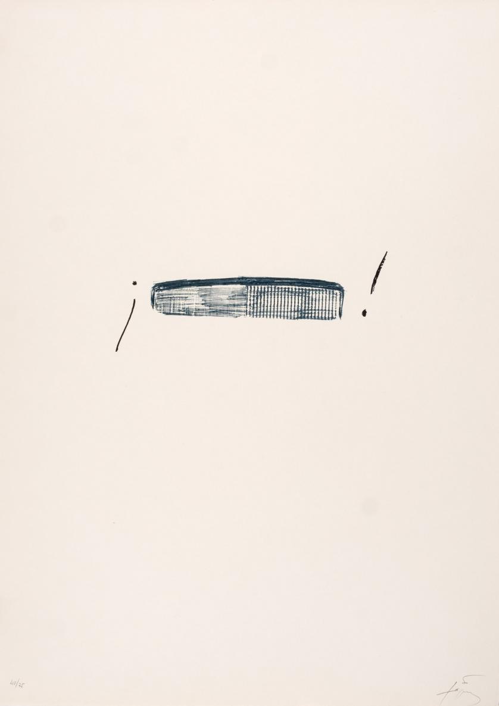 Antoni Tàpies. Llambrec material IV (1975)