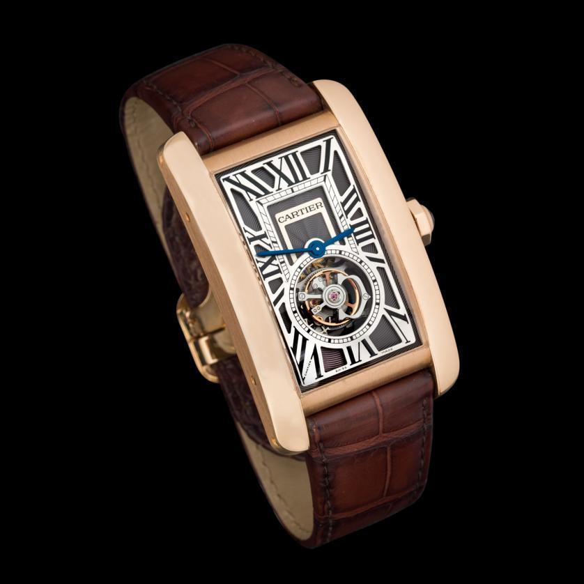 Reloj Cartier Tank Americaine Flying Tourbillon