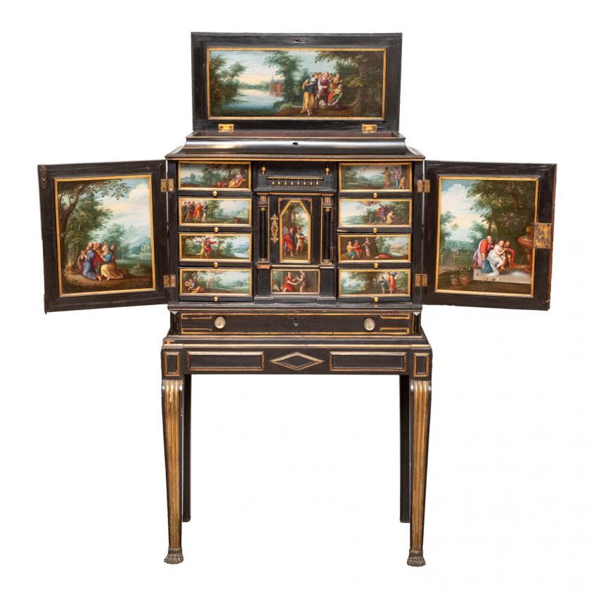 Cabinet flamenco cobres Frans Francken S. XVII